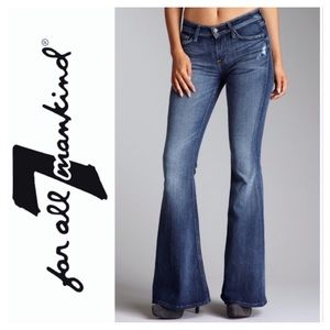 7 For All Mankind Distressed Andie Flare Jeans